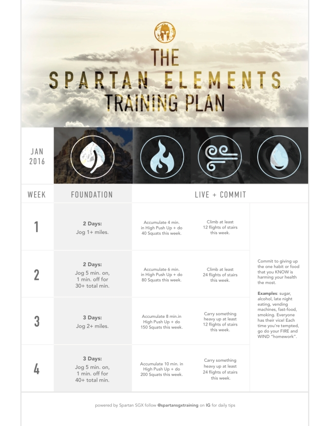 Jan 2016 Spartan Training