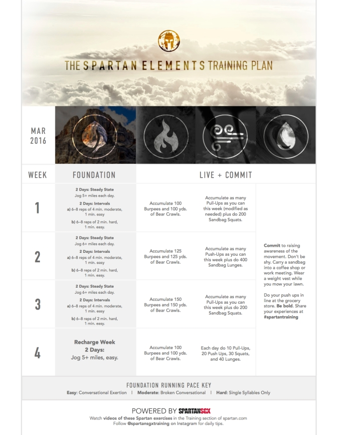 Mar 2016 Spartan Training